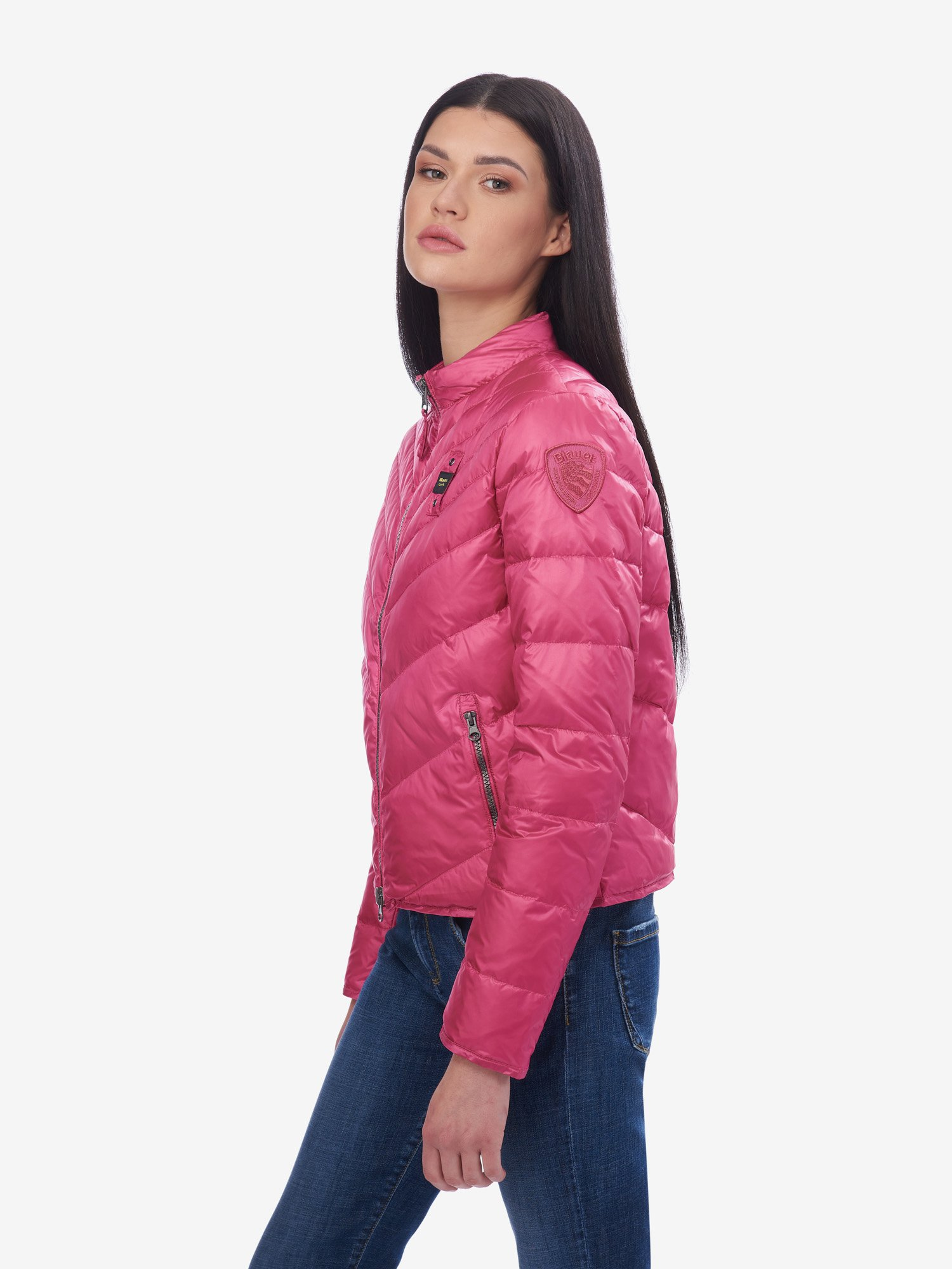 Blauer - BARLETT SHORT LIGHTWEIGHT DOWN JACKET - Shocking Pink - Blauer