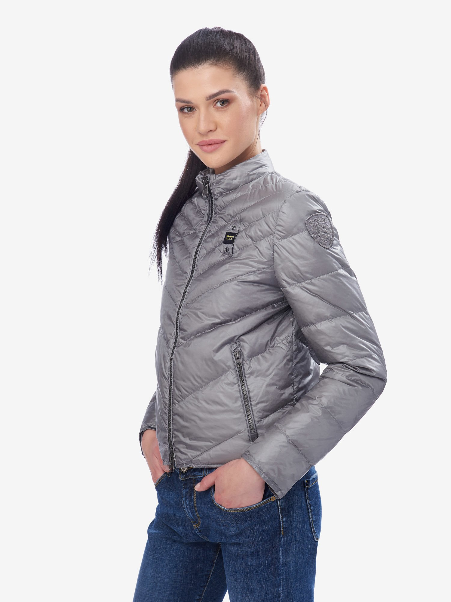 Blauer - BARLETT SHORT LIGHTWEIGHT DOWN JACKET - Grey Pigeon - Blauer