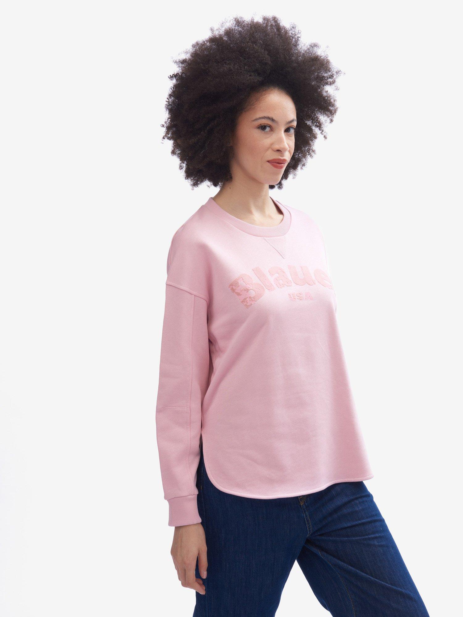 Blauer - SUDADERA BAJO REDONDEADO - Pink Pastel - Blauer