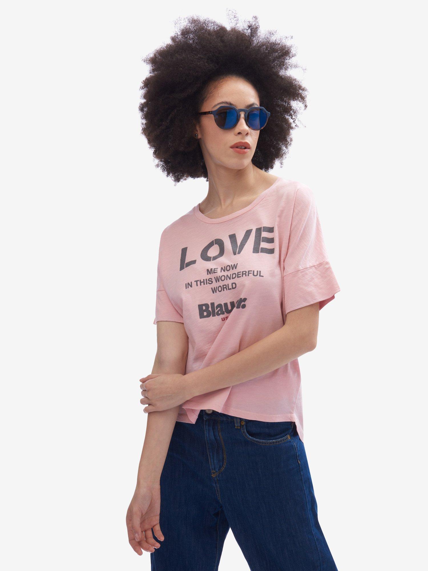 Blauer - ФУТБОЛКА ЖЕНСКАЯ LOVE ME - Pink Pastel - Blauer