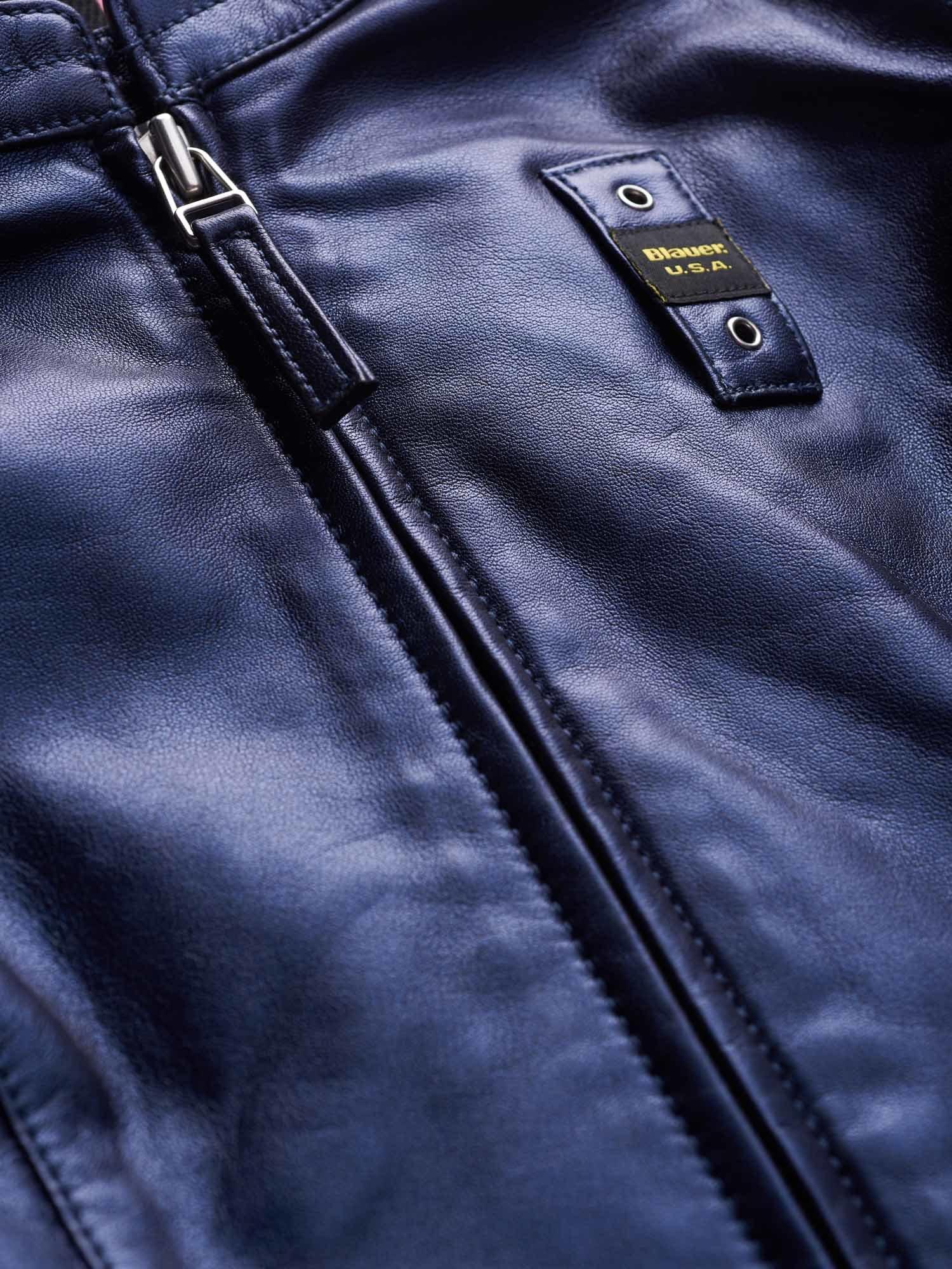 Blauer Biker Shah Metallizzato Blu da Donna