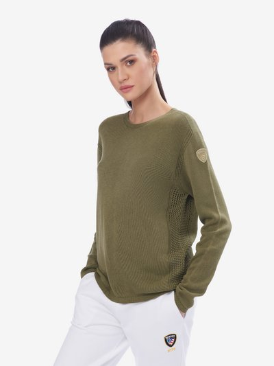 SWEATER WITH MESH DETAILS