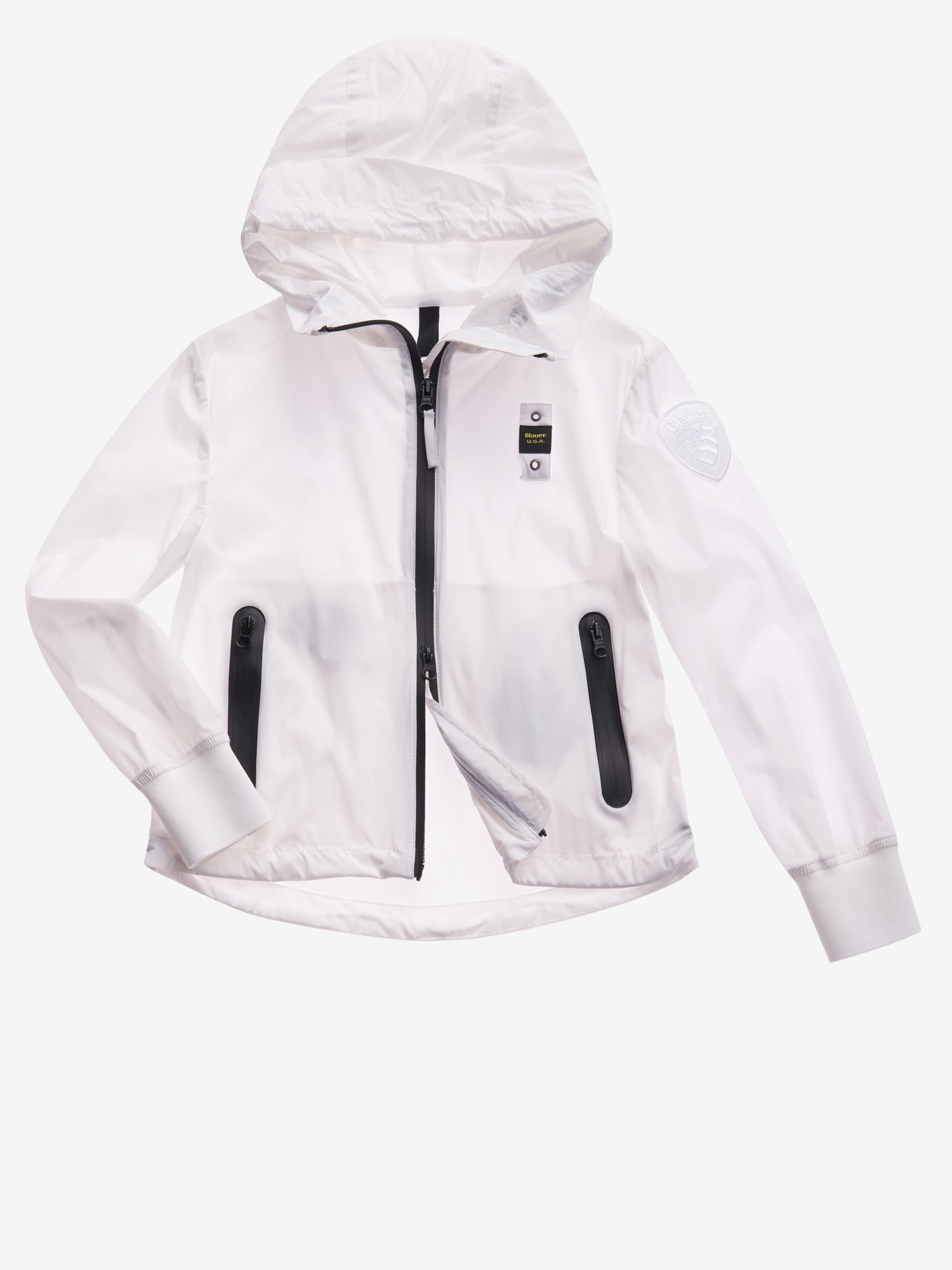 Blauer - JUNIOR MATTE JACKET WITH HOOD - white - Blauer
