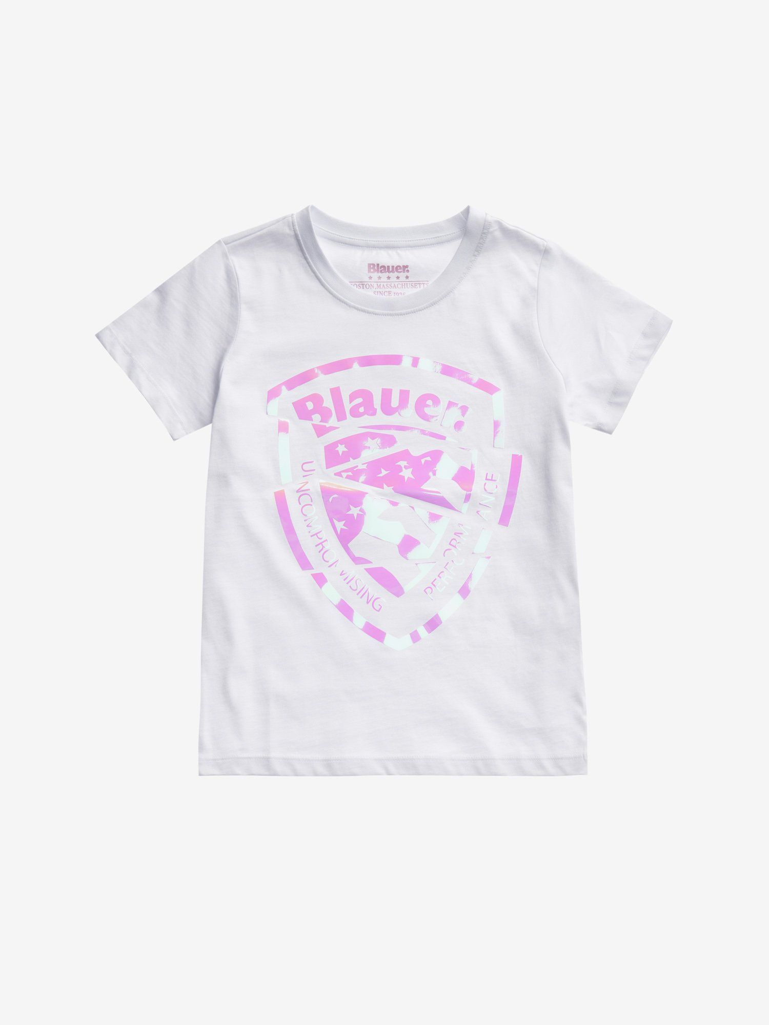 Blauer - JUNIOR IRIDESCENT SHIELD T-SHIRT - white - Blauer