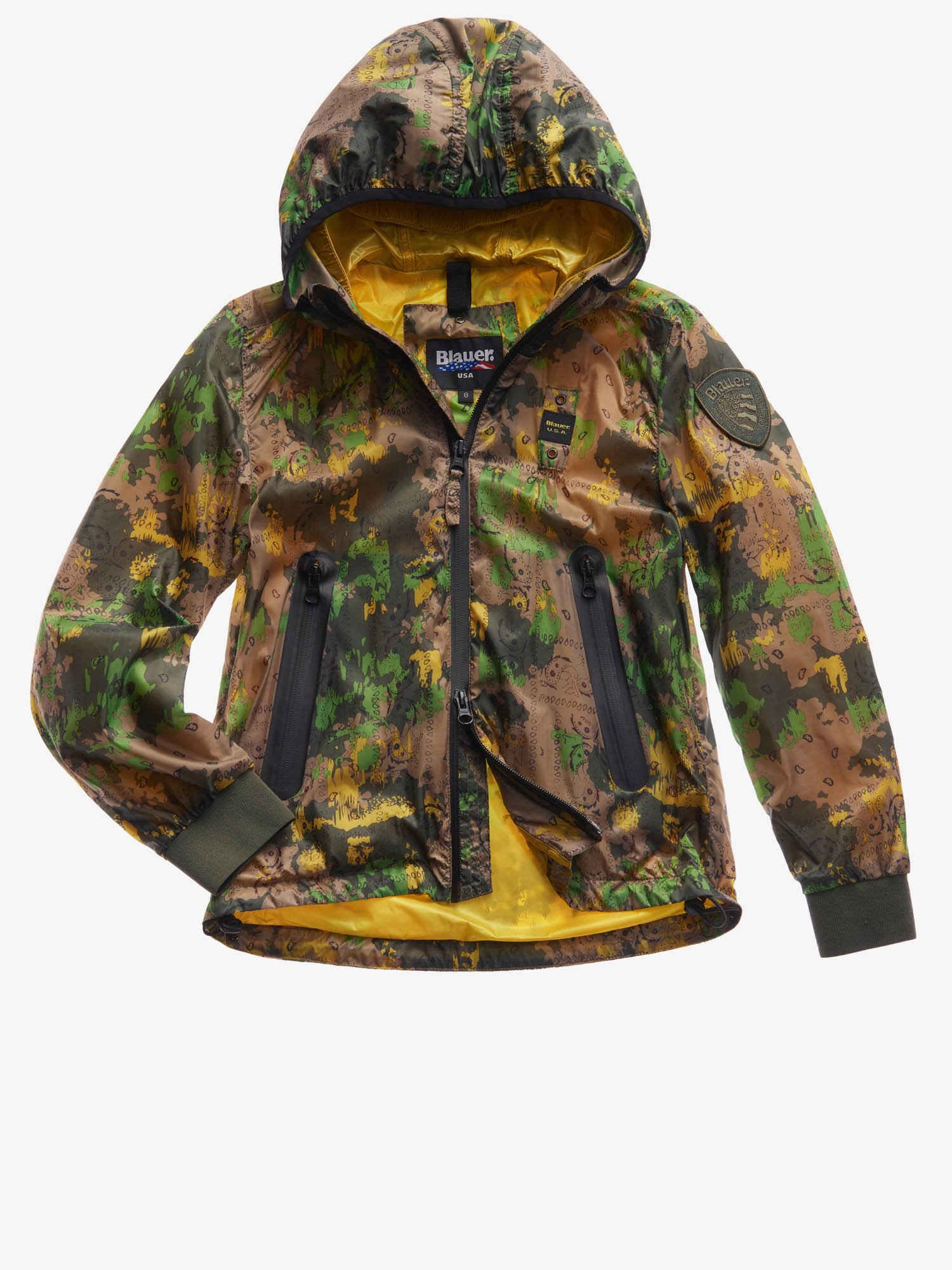 JUNIOR LINED JACKET WITH DOUBLE HOOD - Blauer