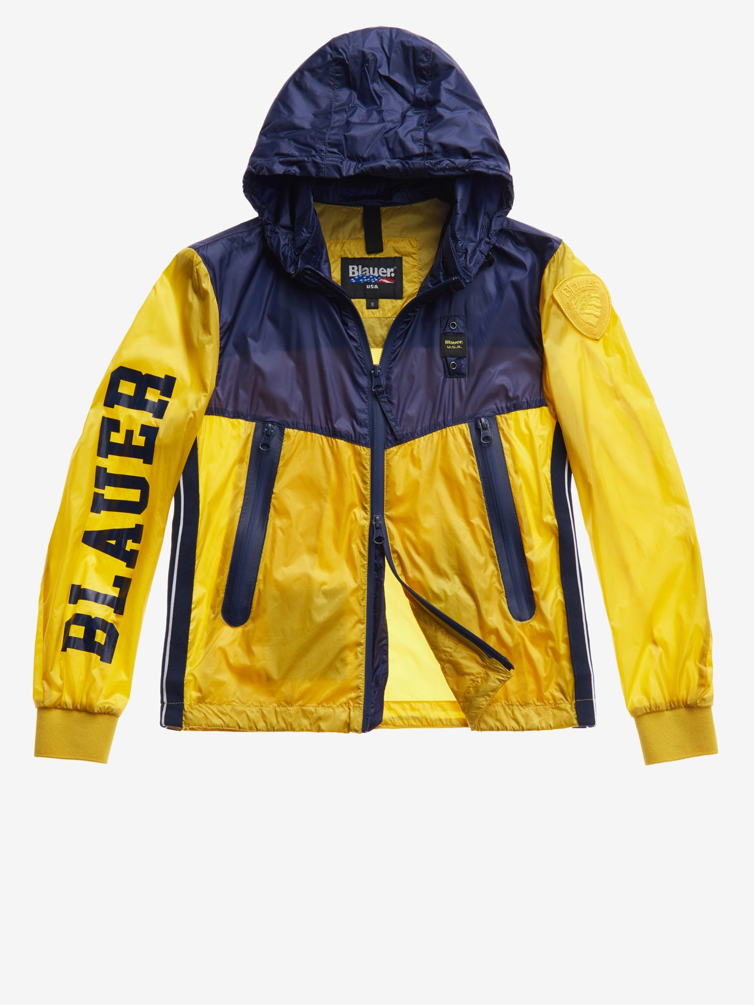 Blauer - TRANSPARENT TWO-TONE NYLON JACKET - Canary - Blauer