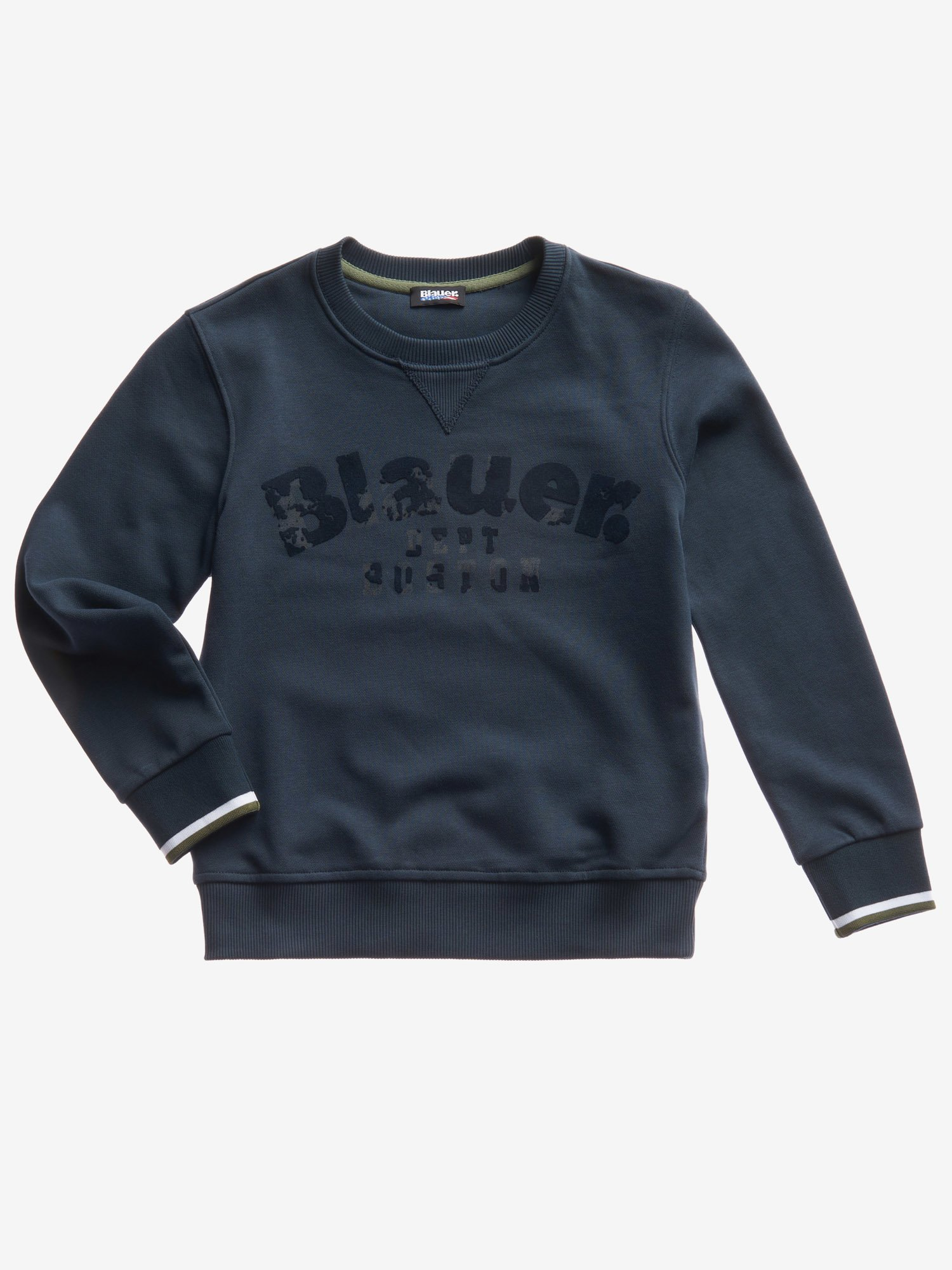 Blauer - JUNIOR BASIC CREW NECK SWEATSHIRT - Cadet Blue - Blauer