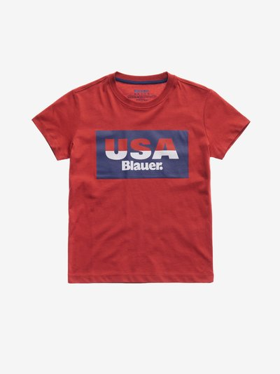T-SHIRT JUNIOR USA BLAUER