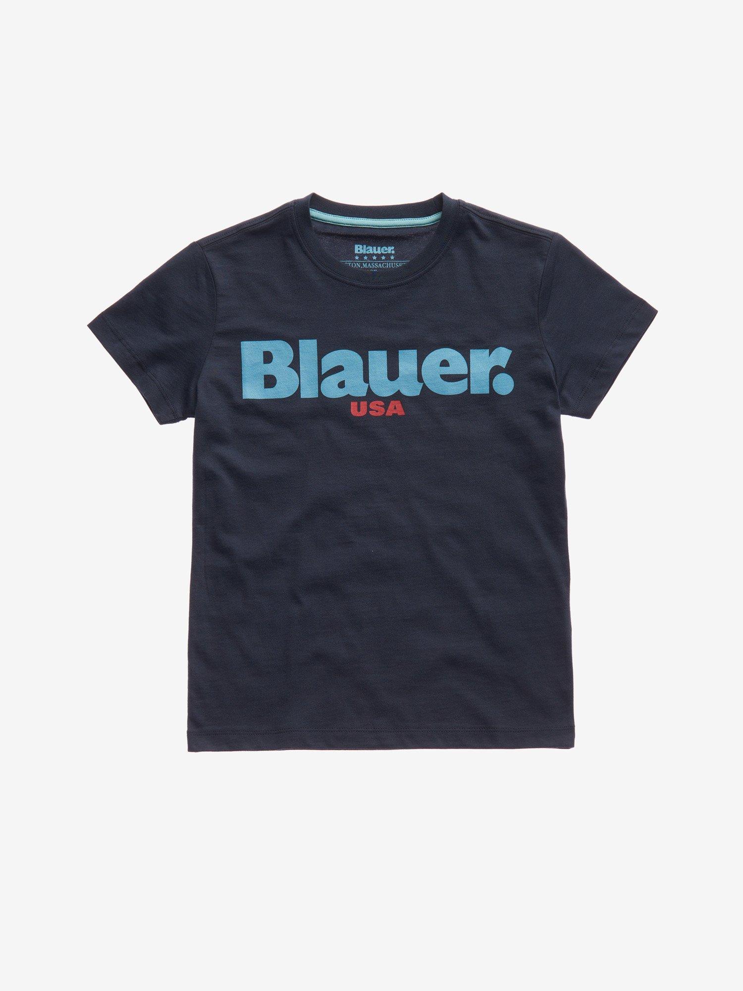 Blauer - JUNIOR BASIC BLAUER T-SHIRT - Cadet Blue - Blauer