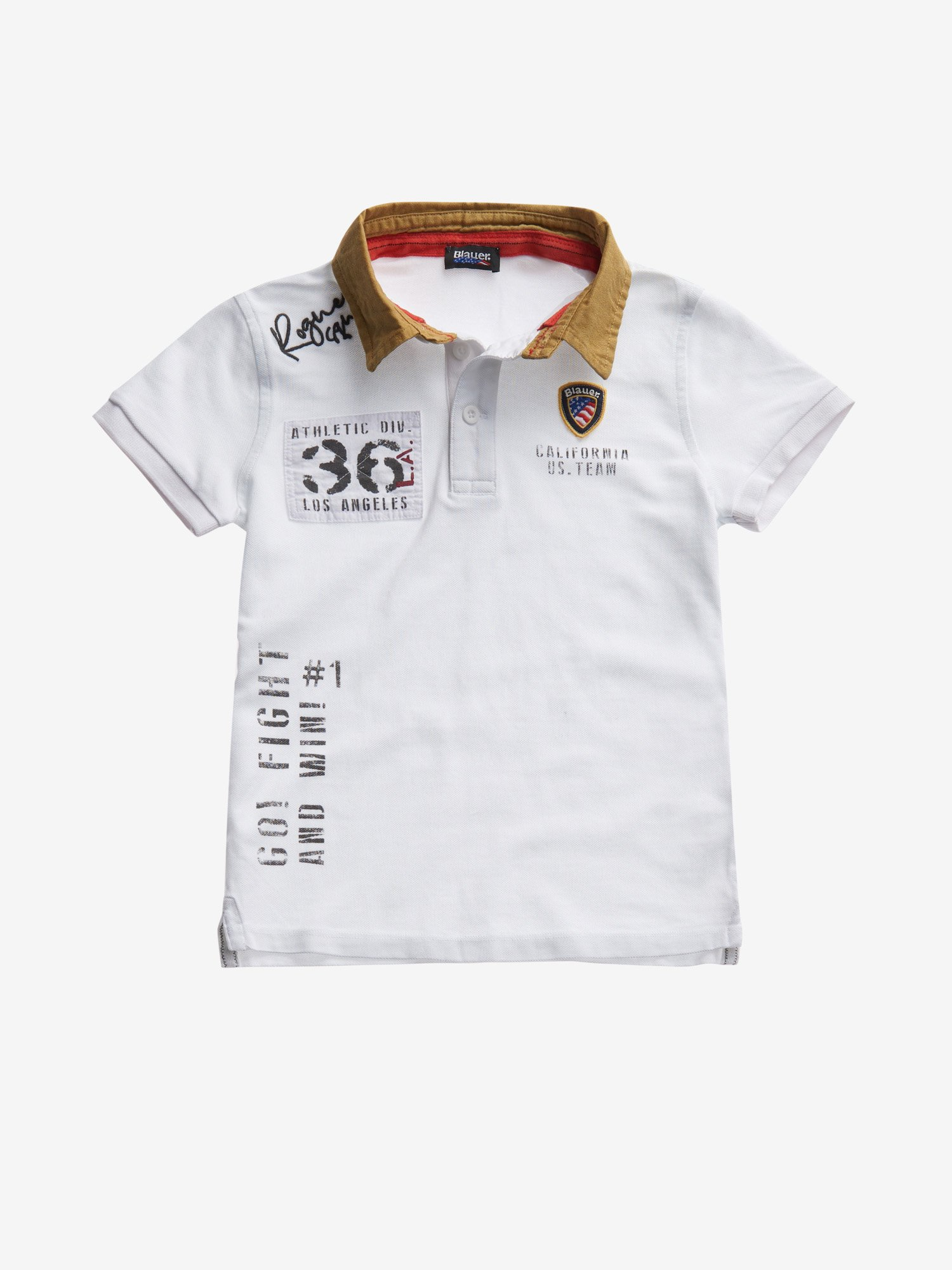 Blauer - POLO JUNIOR CALIFORNIA US. TEAM - Bianco - Blauer