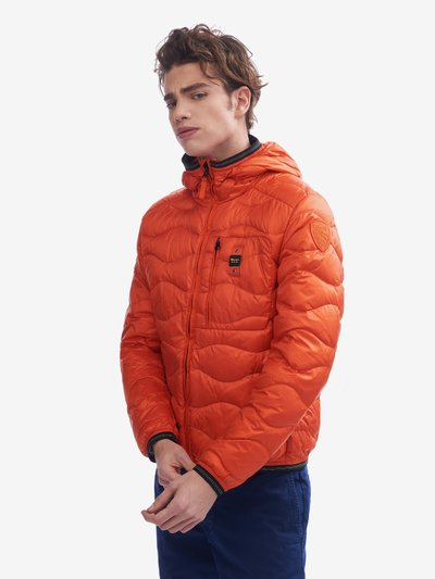 BOLTON HORIZONTAL WAVE-QUILTED DOWN JACKET WITH HOOD