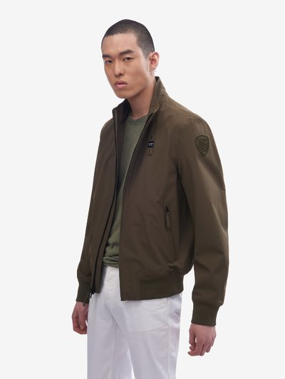 CHARLES NEOPRENE UNLINED BOMBER JACKET