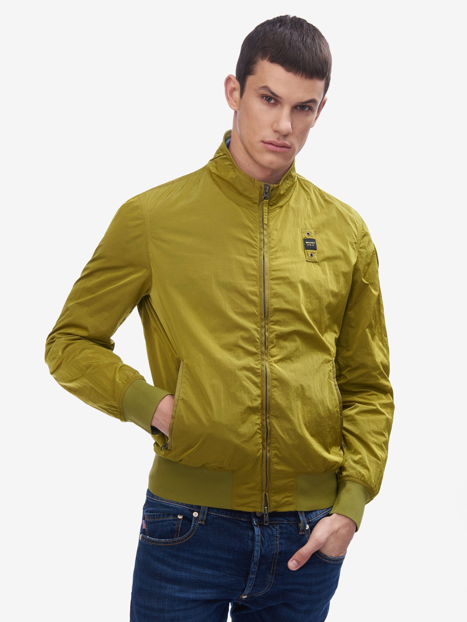 Blauer - JACOBS UNLINED BOMBER JACKET - Canary - Blauer