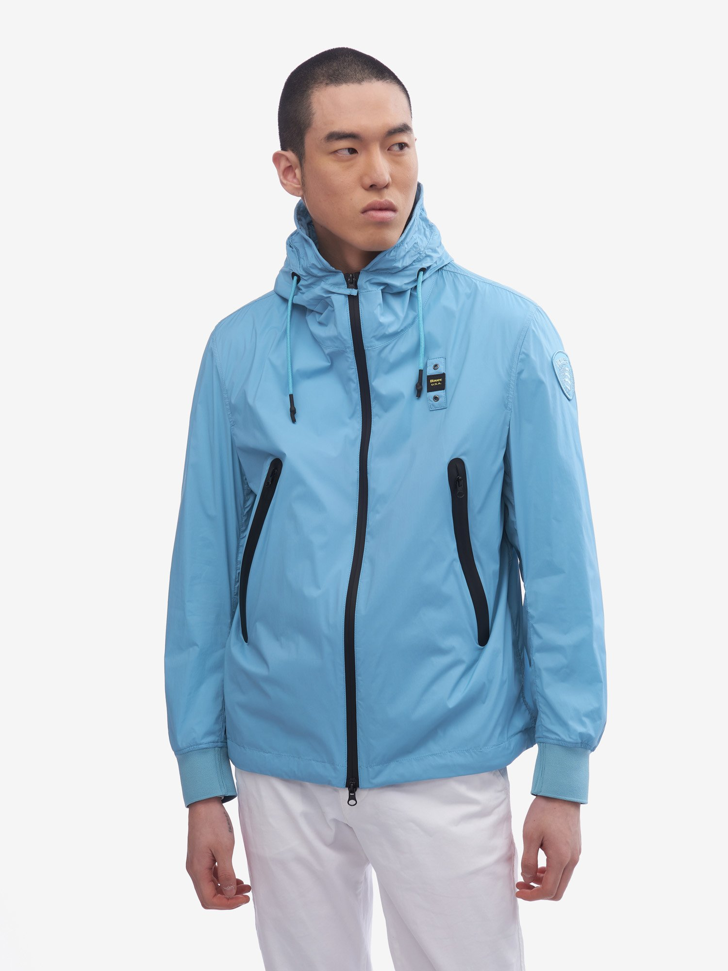 SOUTHERLAND MATTE JACKET WITH HOOD - Blauer