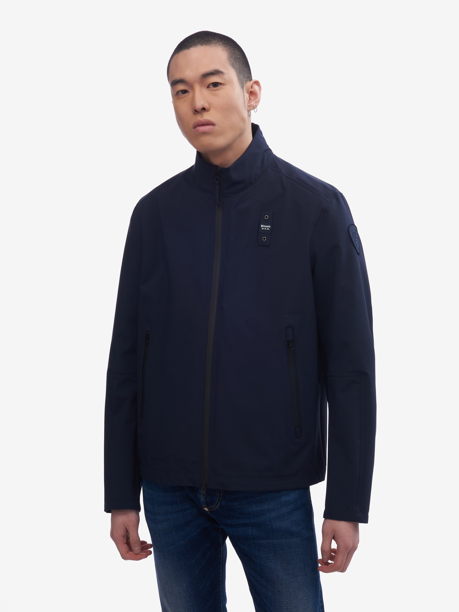 MAXWELL JACKET WITH COATED ZIP - Blauer