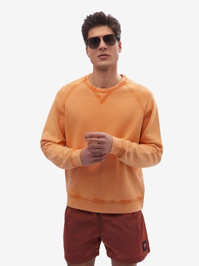 GARMENT-DYED CREW NECK SWEATSHIRT