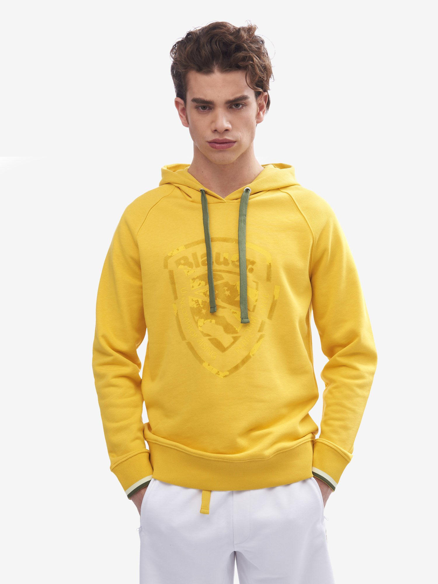 Blauer - HOODED SWEATSHIRT - Canary - Blauer