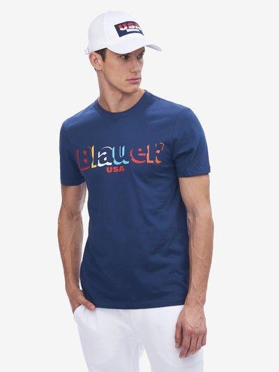 COLOURFUL BLAUER T-SHIRT