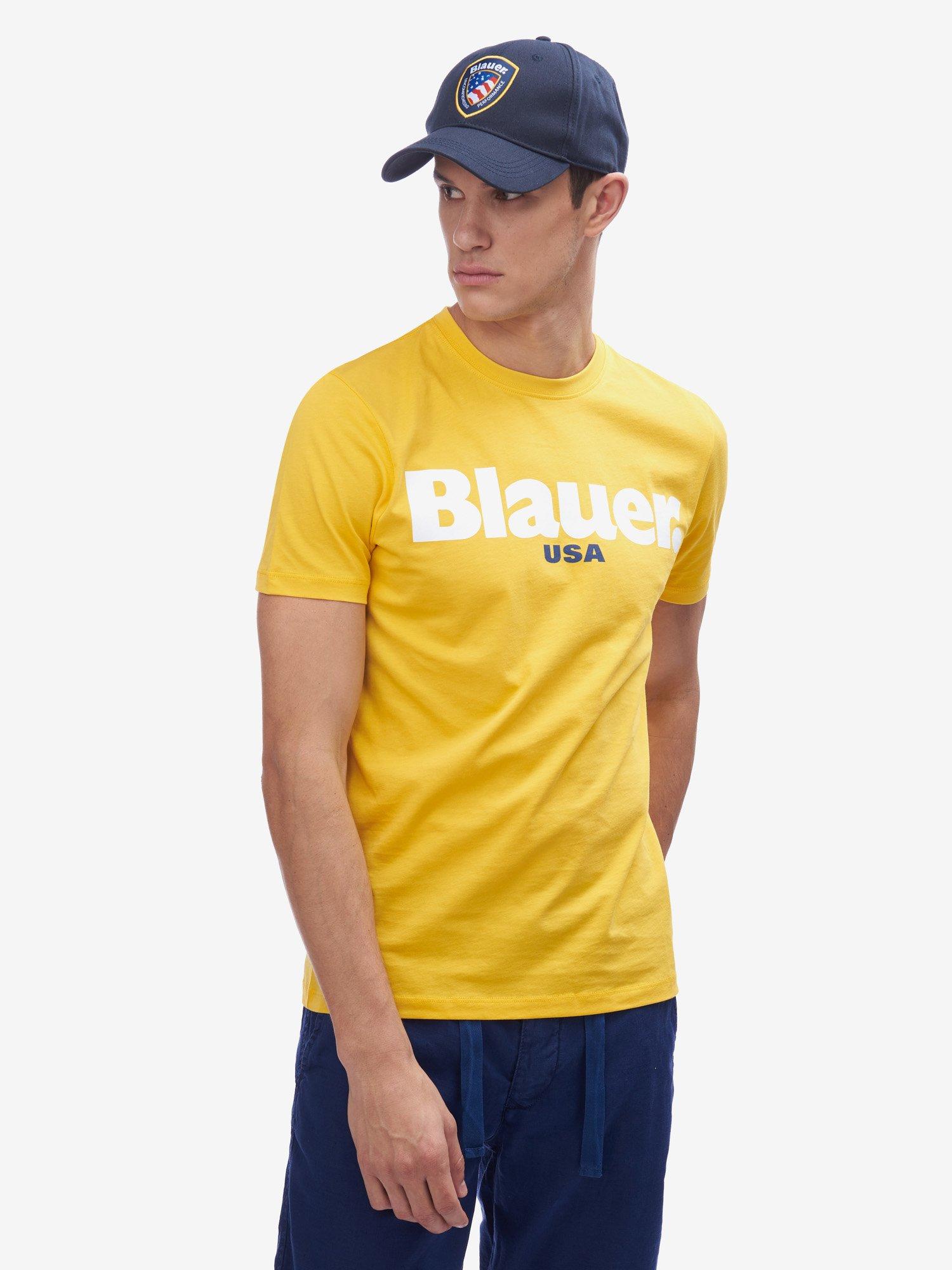 Blauer - BLAUER USA T-SHIRT - Canary - Blauer