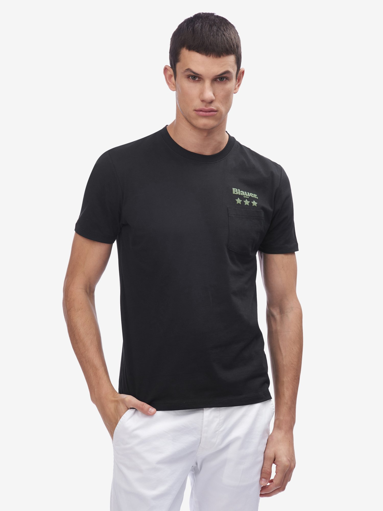 Blauer - POCKET T-SHIRT - Black - Blauer