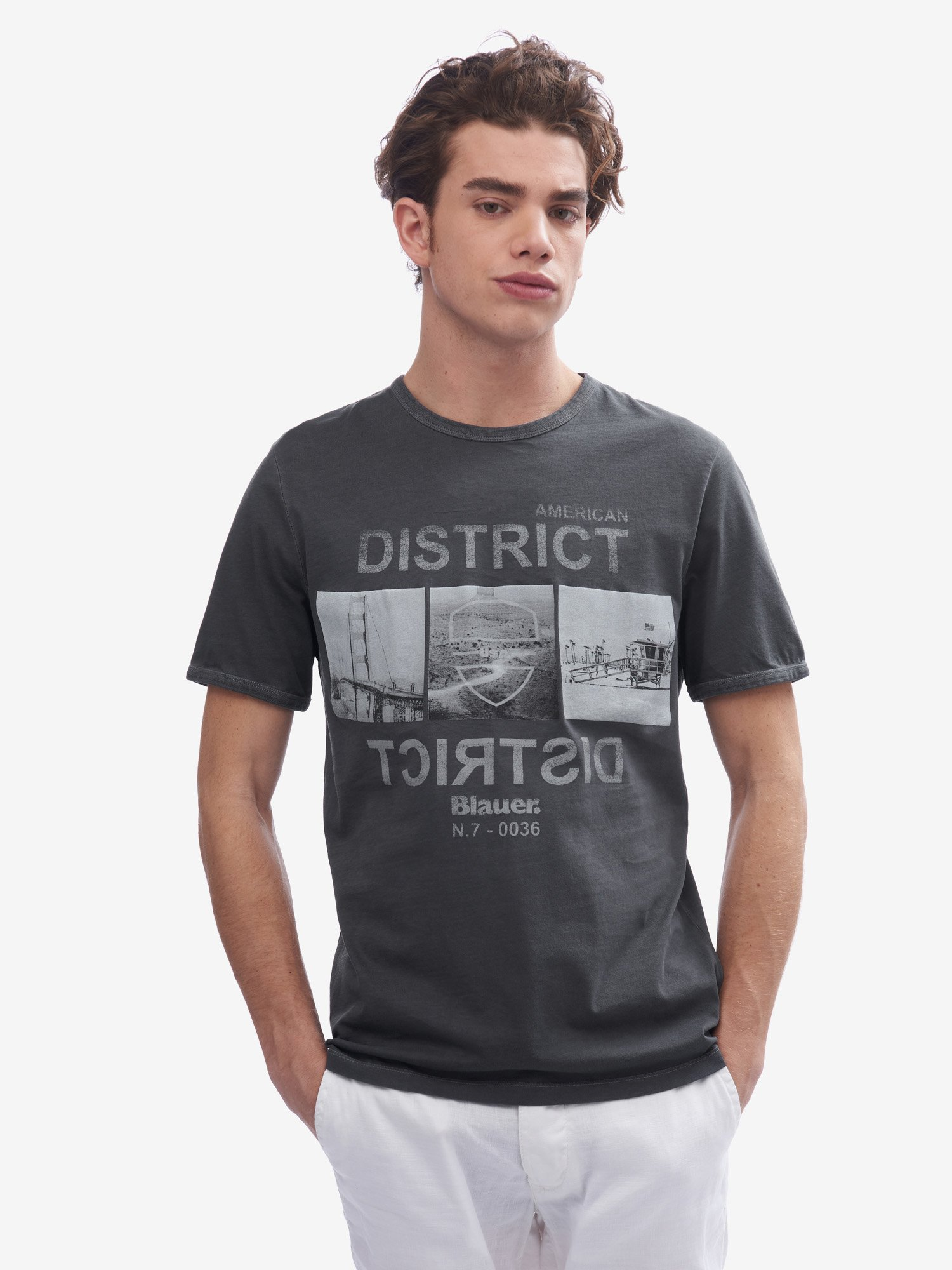 CAMISETA AMERICAN DISTRICT - Blauer
