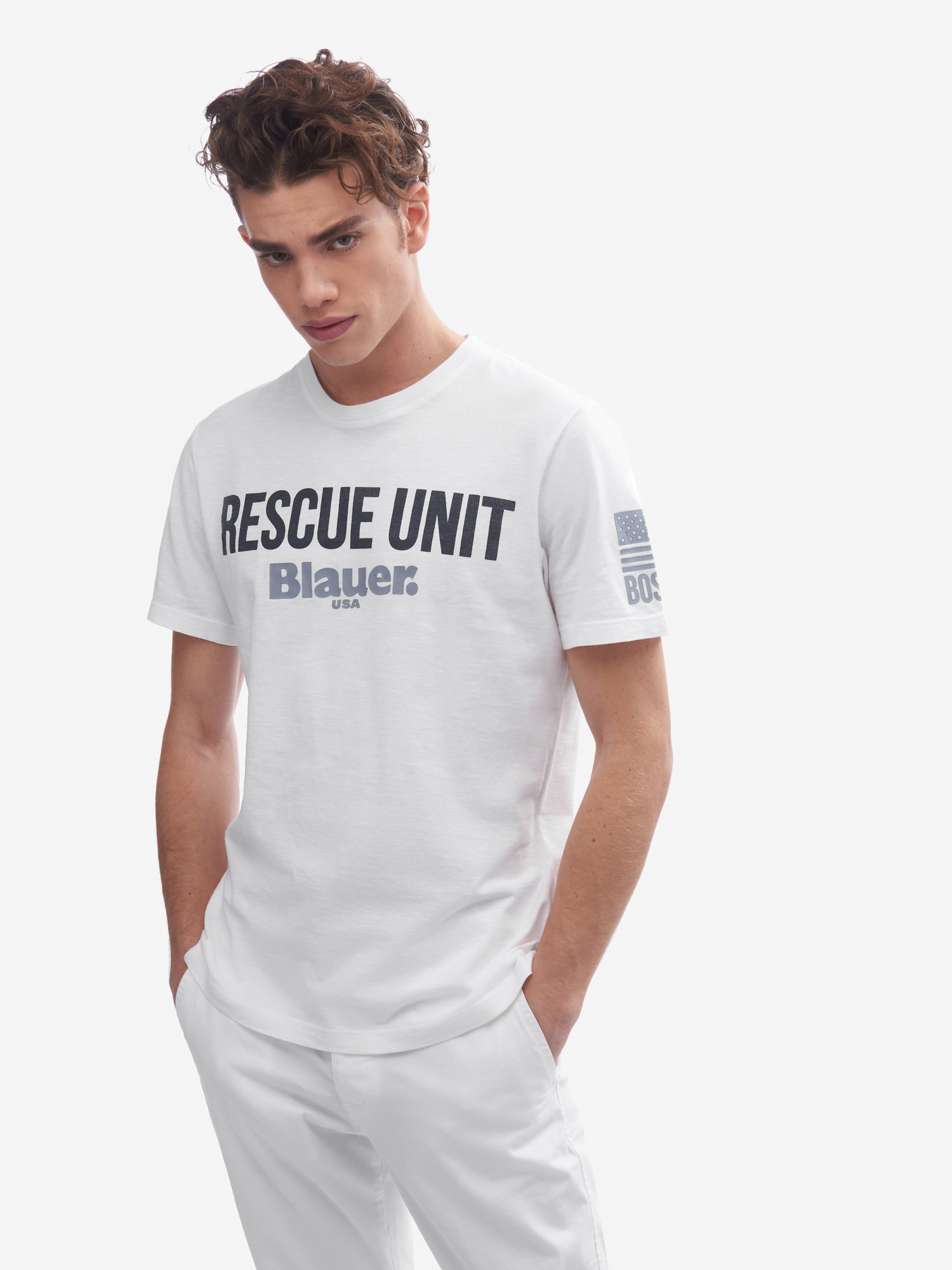 Blauer - RESCUE UNIT T-SHIRT - white - Blauer