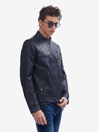 DONNELLY PERFORATED LEATHER JACKET