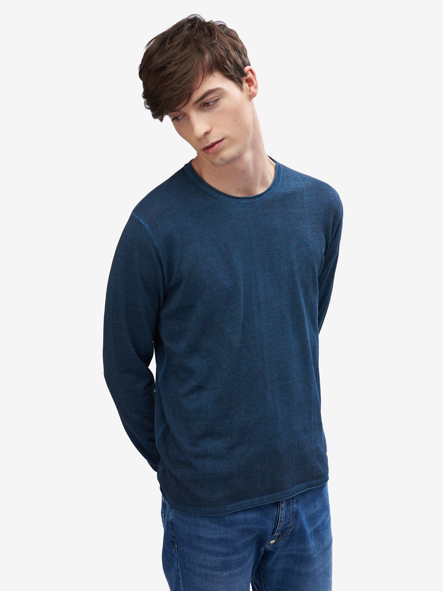 Blauer - VINTAGE-EFFECT SWEATER - Cadet Blue - Blauer