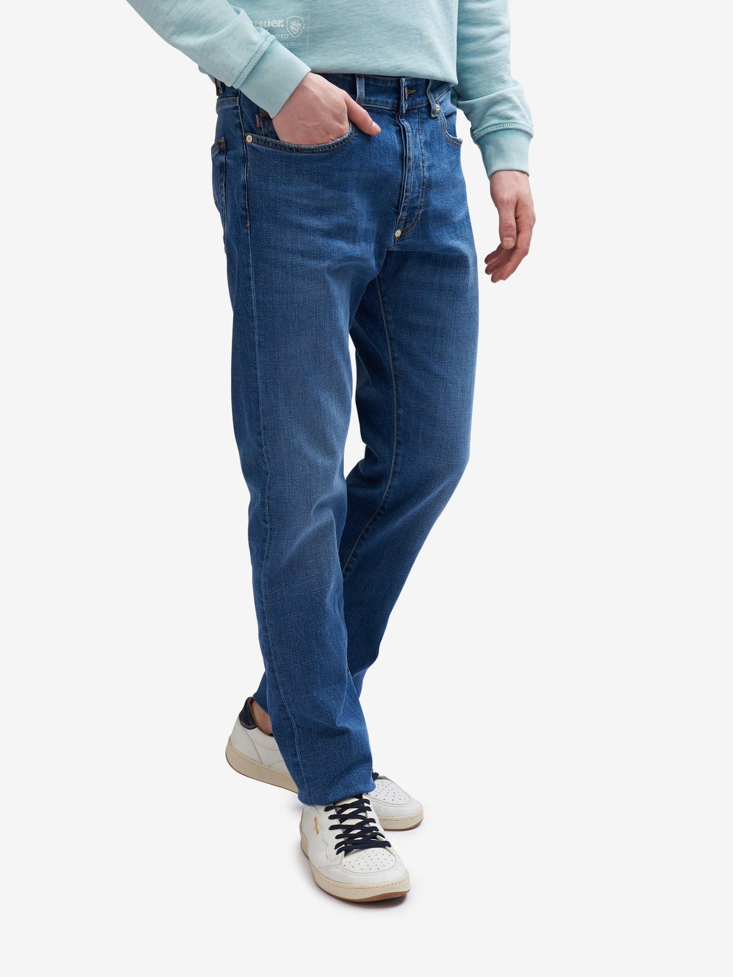 Blauer - BROOKLYN 5 POCKET JEANS - Bright Stone Wash - Blauer