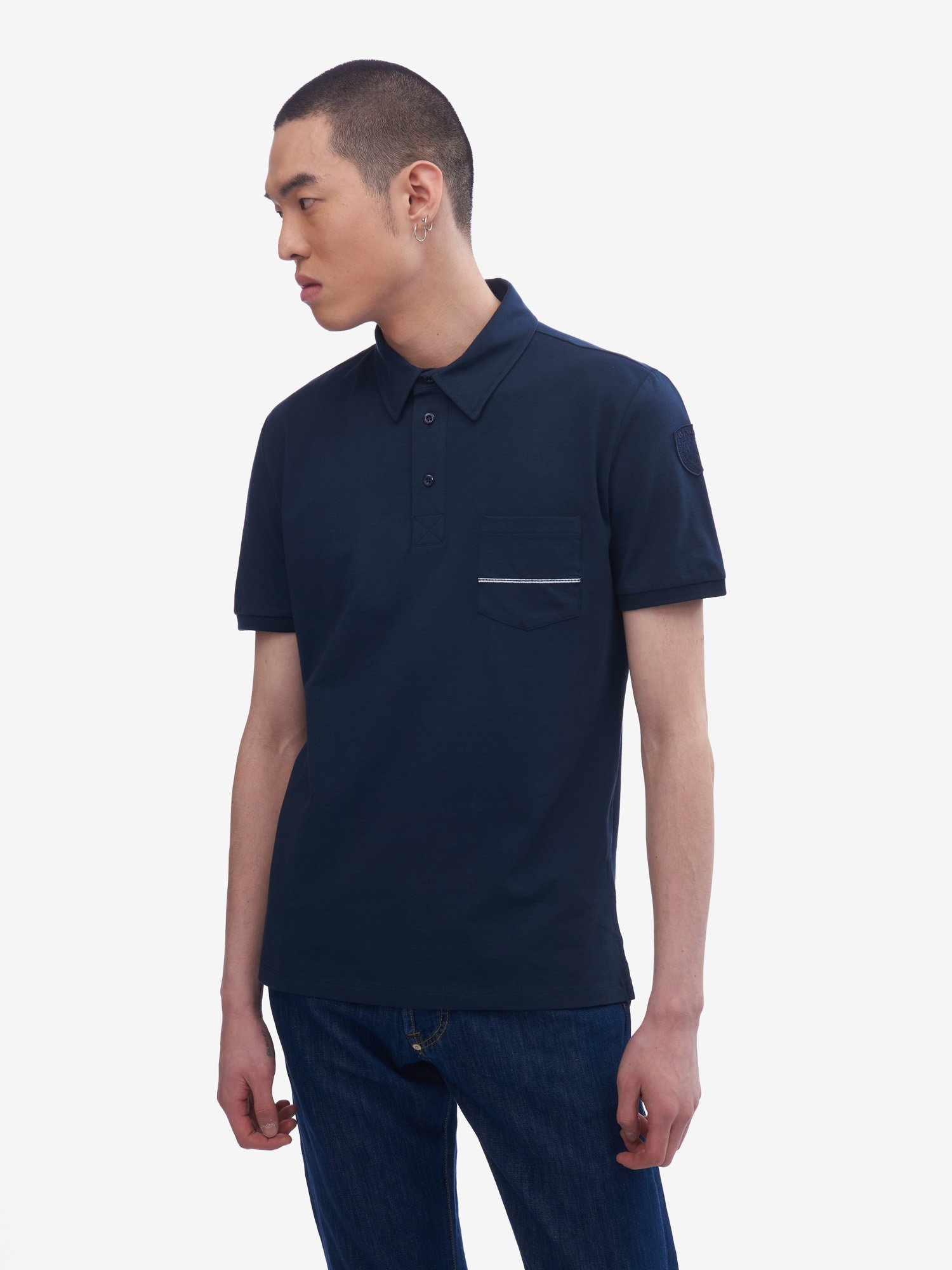 Blauer - POLO SOFT TOUCH - Cadet Blue - Blauer