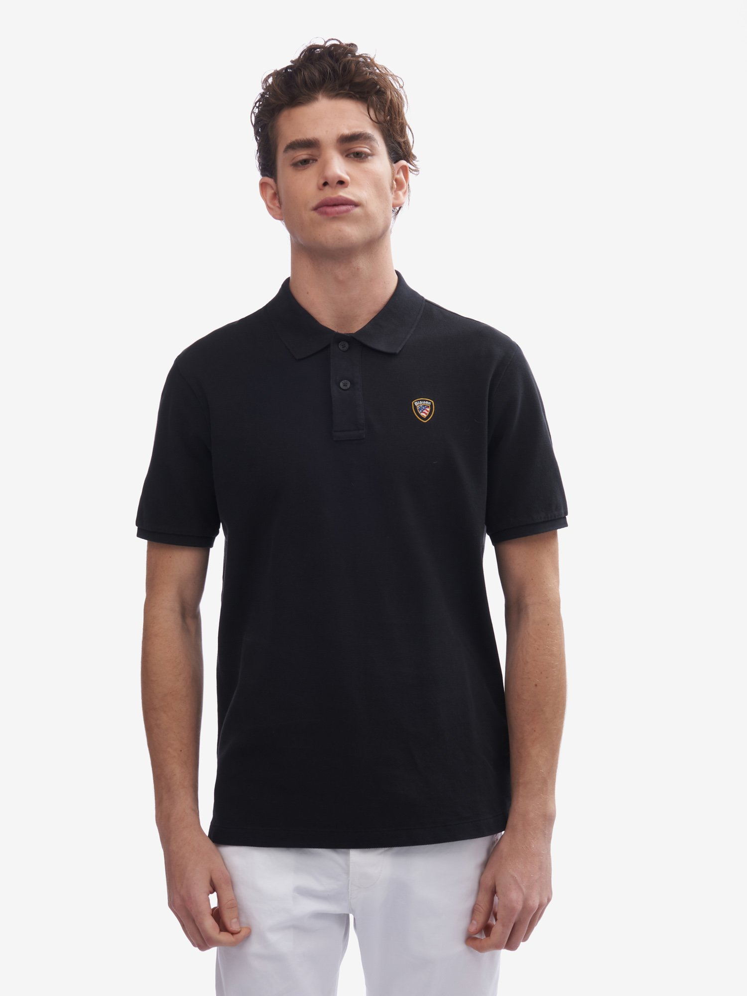 SHORT SLEEVE BLAUER POLO SHIRT - Blauer