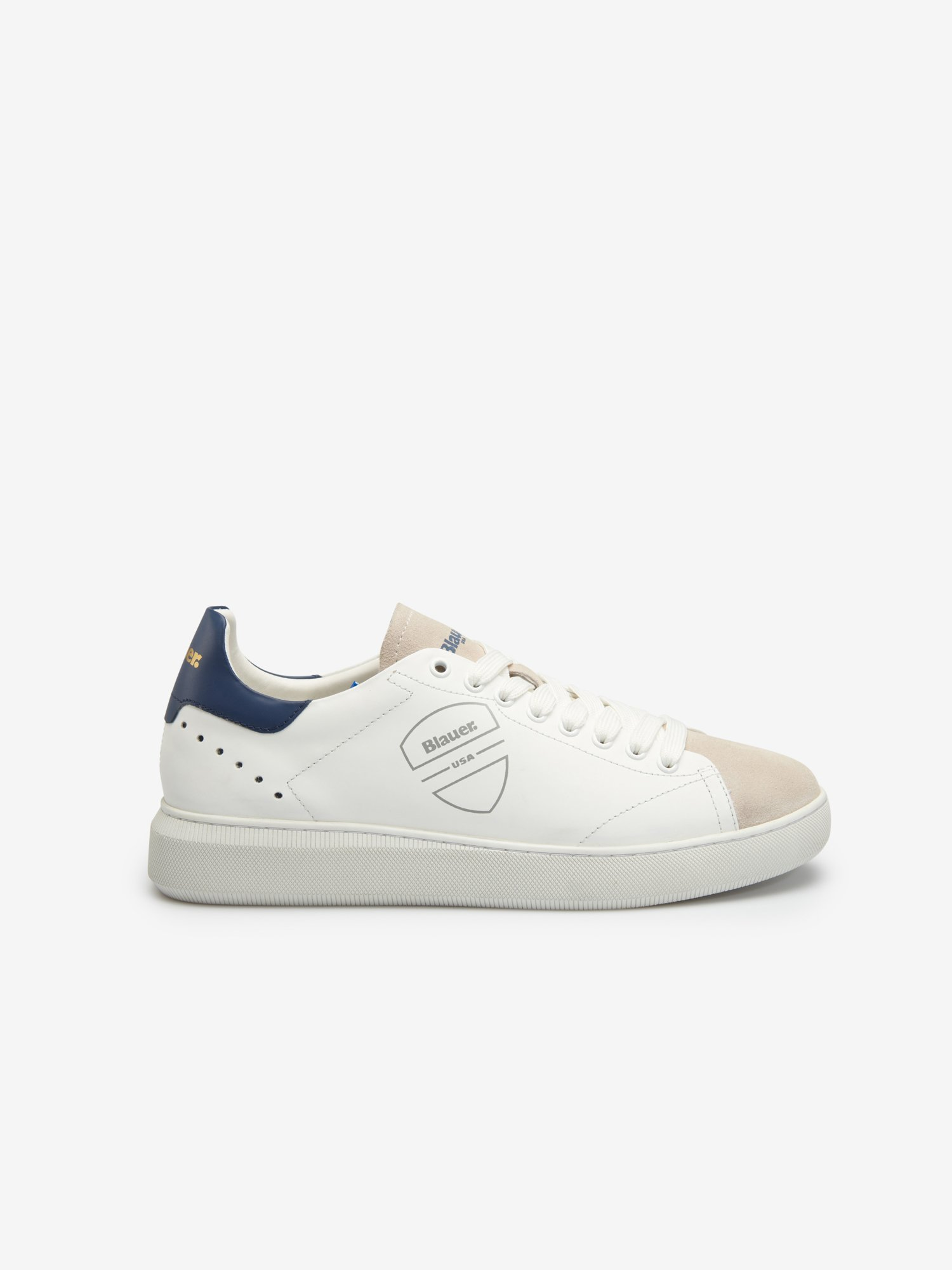 Blauer - Keith Leather Sneakers - Blu Ionio - Blauer