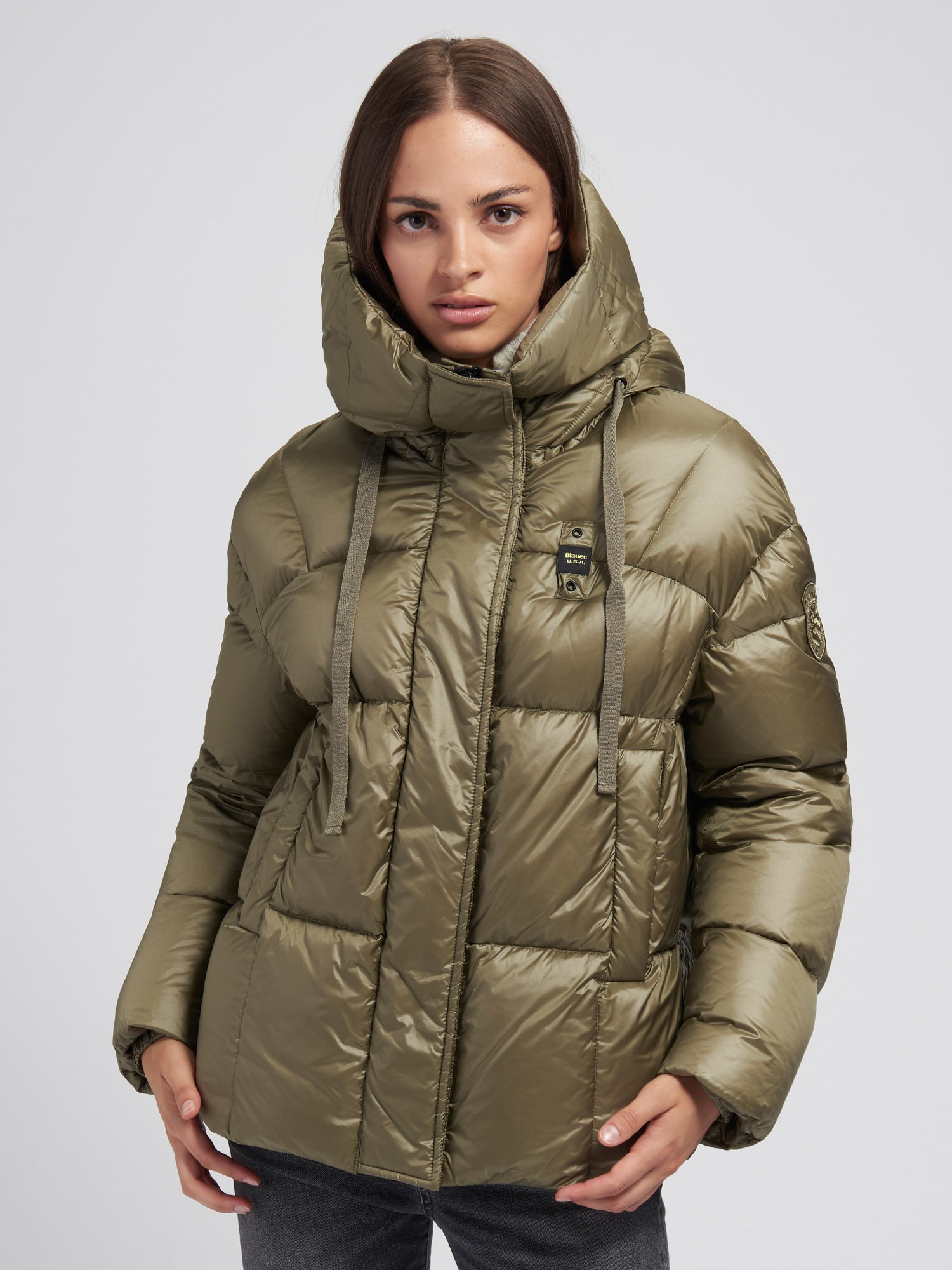Blauer - SARAH SHINY DOWN JACKET WITH HOOD - Blauer