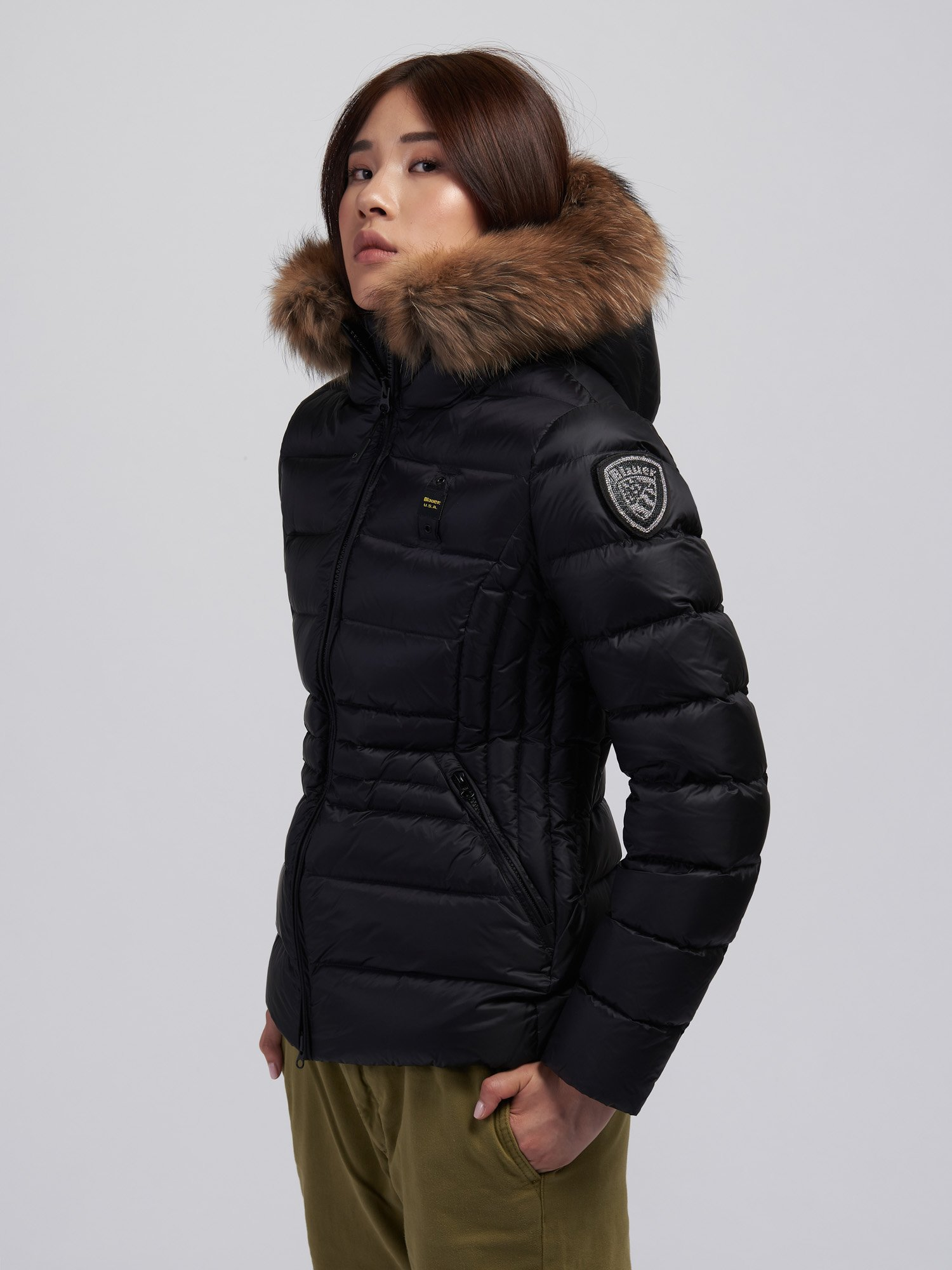 PAMELA FLARED NYLON DOWN JACKET - Blauer