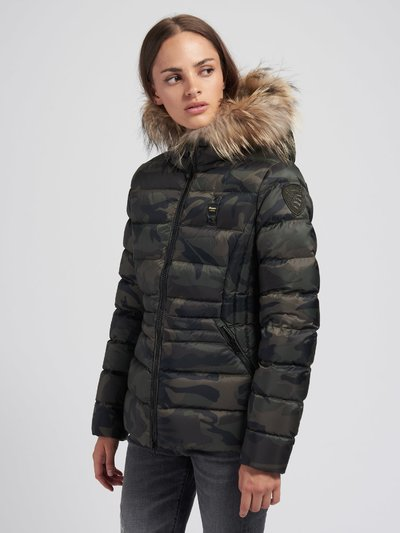 MARTHA FLARED CAMOUFLAGE DOWN JACKET