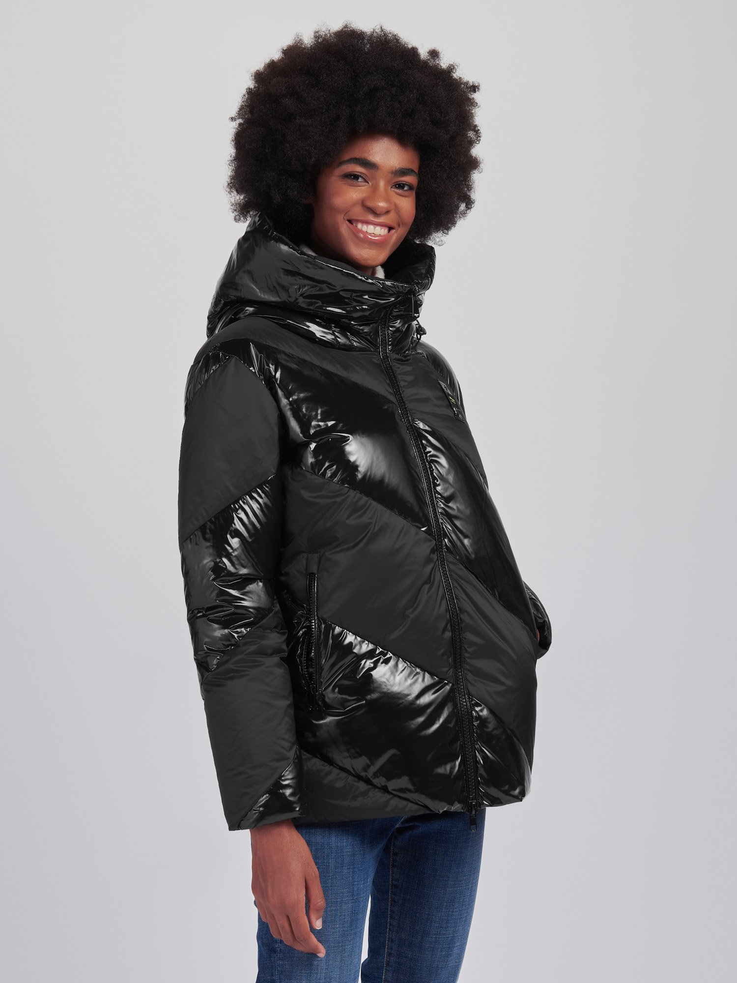Blauer - ANNA SHINY-MATTE DOWN JACKET - Black - Blauer