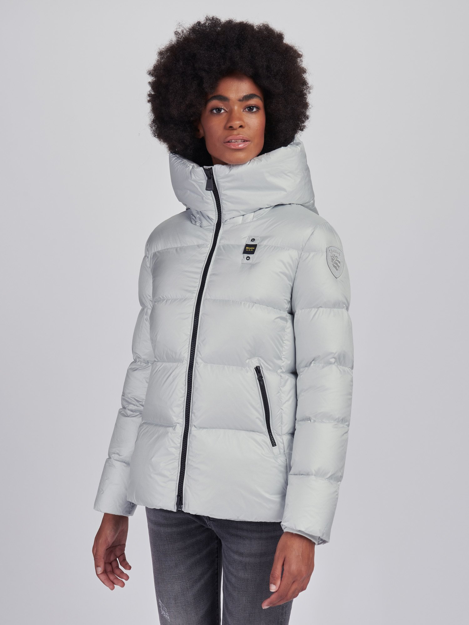 LAURA FLARED DOWN JACKET WITH HOOD - Blauer
