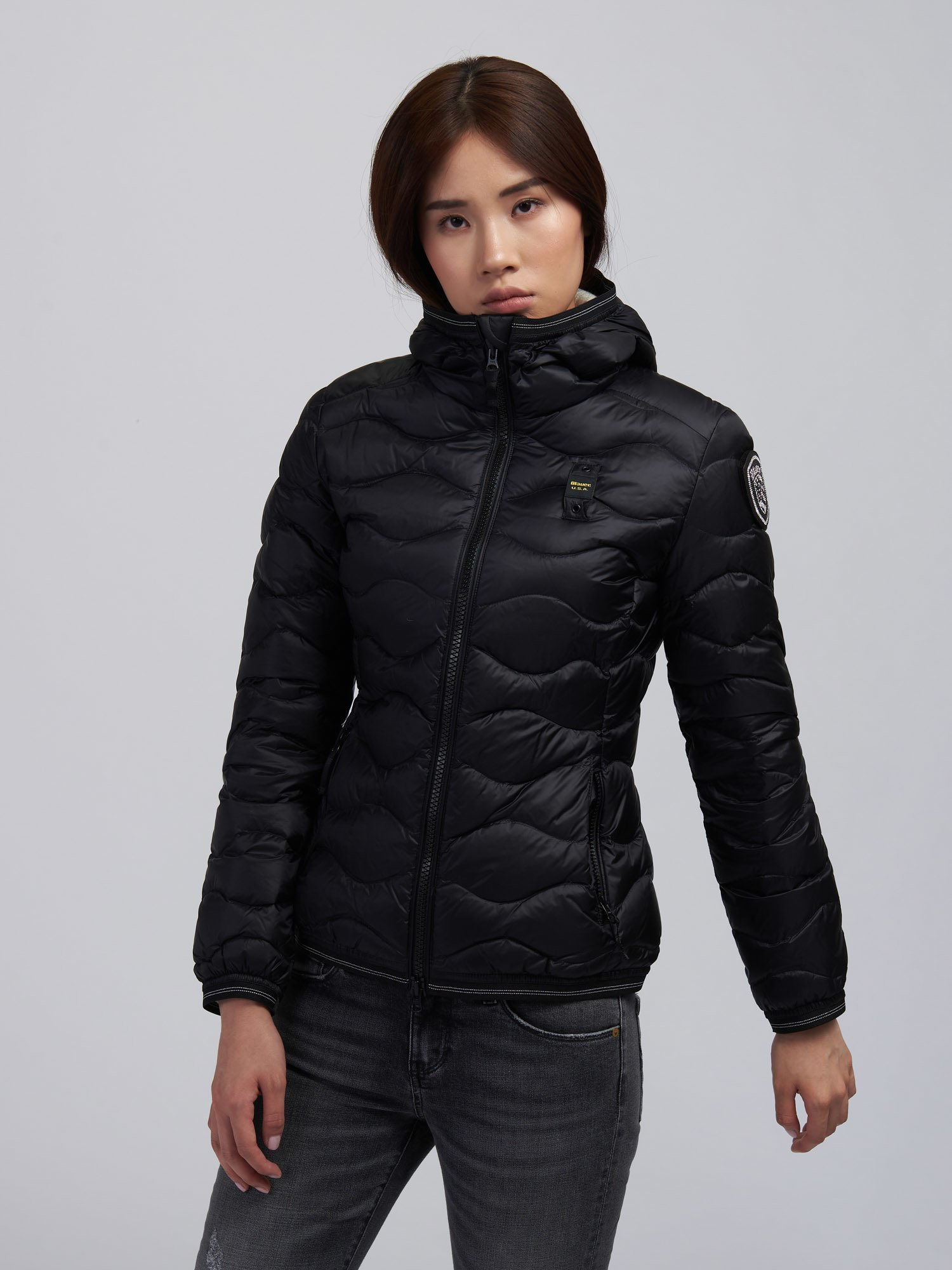 MELISSA WAVE-QUILTED DOWN JACKET - Blauer