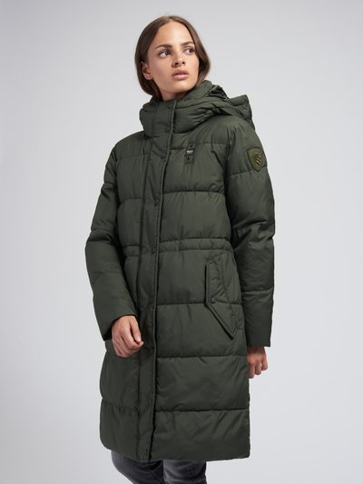 ASHLEY WOOL BLEND LONG PADDED JACKET