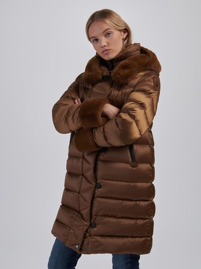 FRANCES DOUBLE COLLAR LONG DOWN JACKET