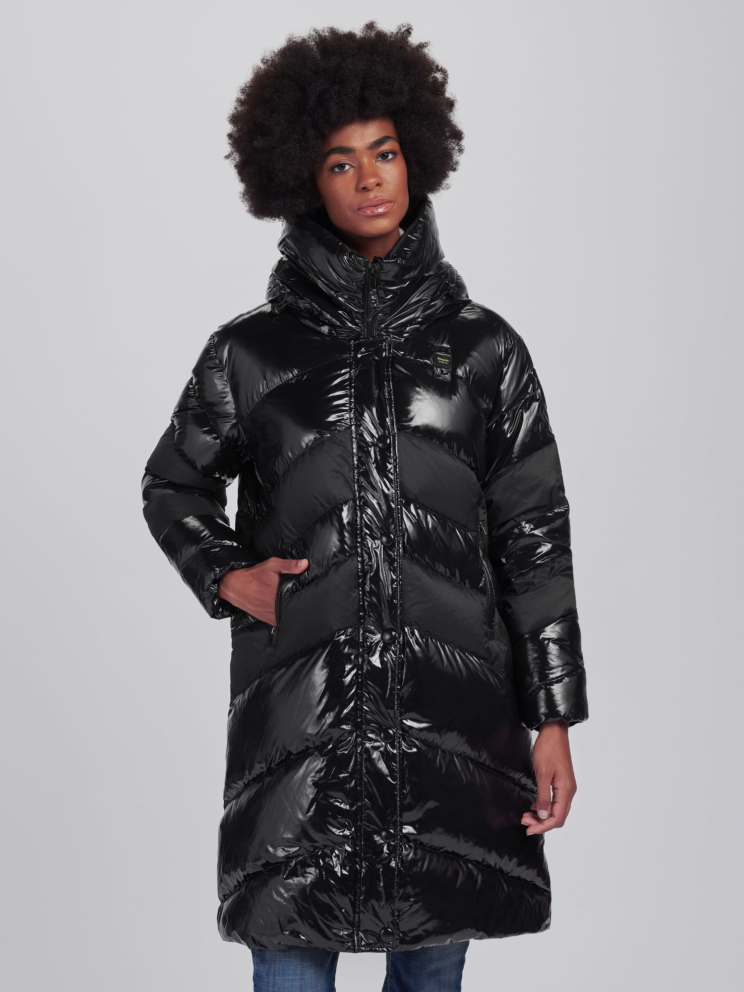 GLORIA SHINY MATTE LONG DOWN JACKET - Blauer