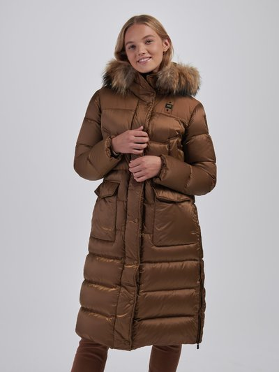 JOYCE NYLON AND TASLAN LONG DOWN JACKET