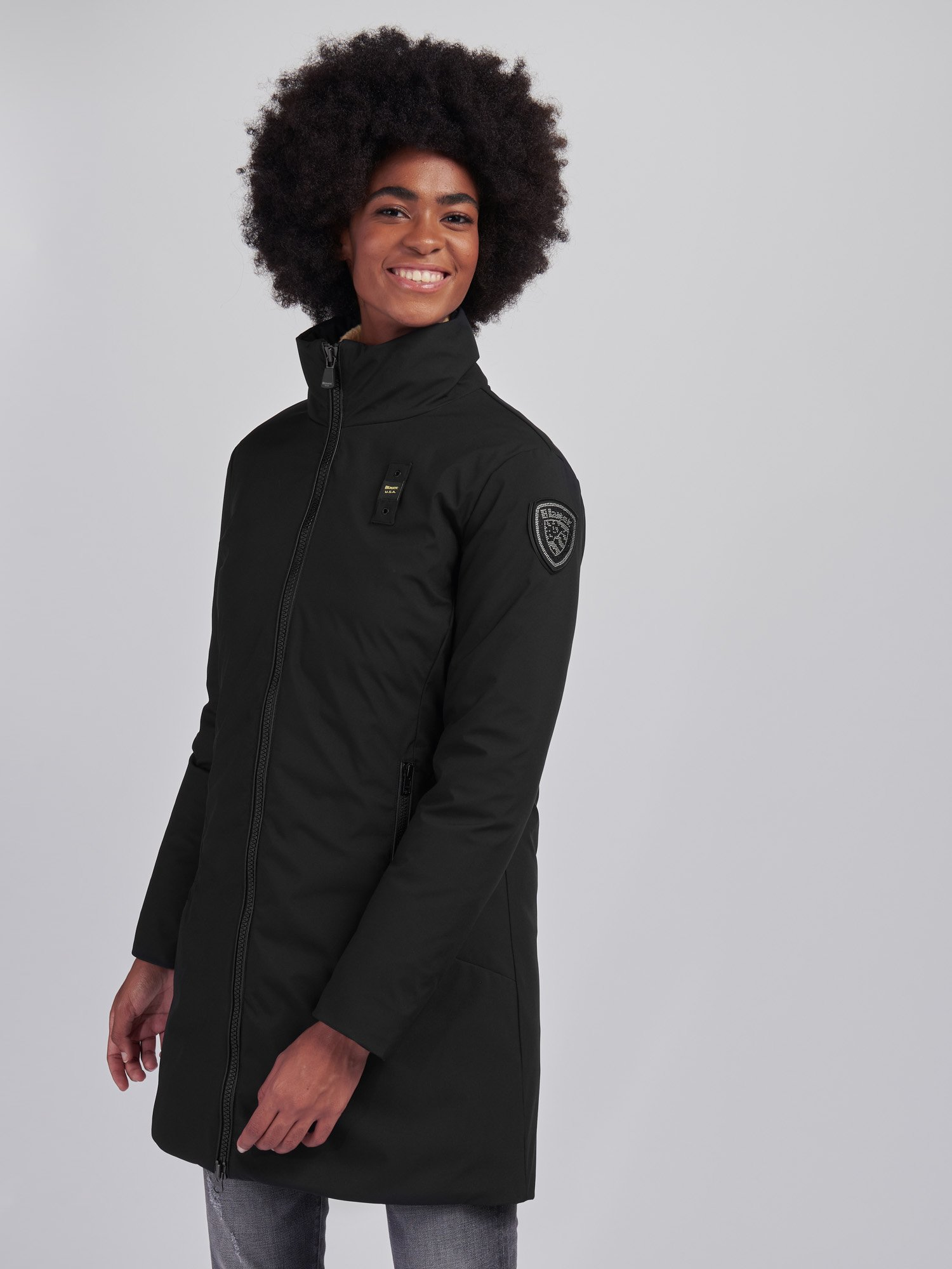 Blauer - NEOPRENE DOWN COAT LIV - Black - Blauer