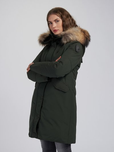 ROSE PARKA IN LIGHT TASLAN