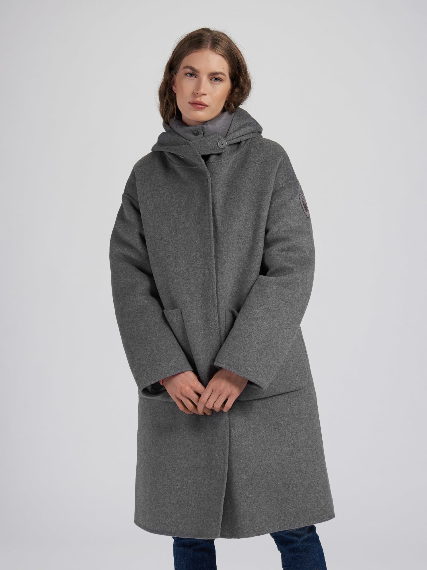 NICOLE COAT WITH HOOD - Blauer
