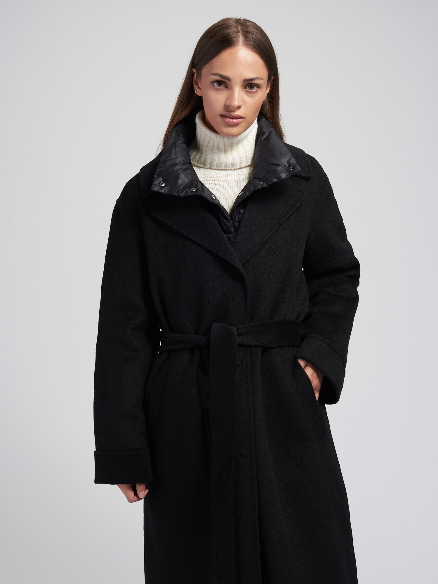 Blauer - KELLY COAT WITH DOWN INSIDE - Black - Blauer