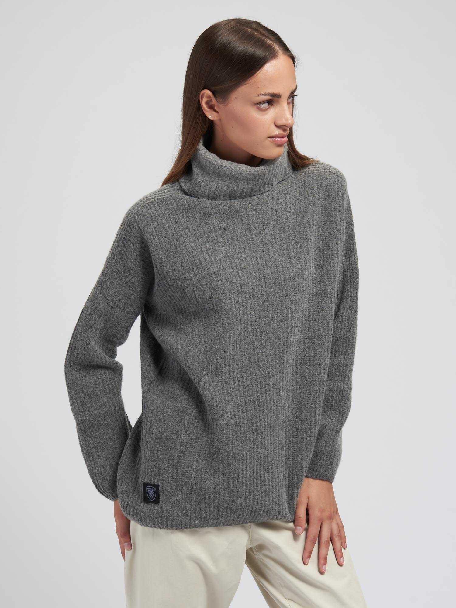 HIGH NECK SWEATER WITH CUFF - Blauer