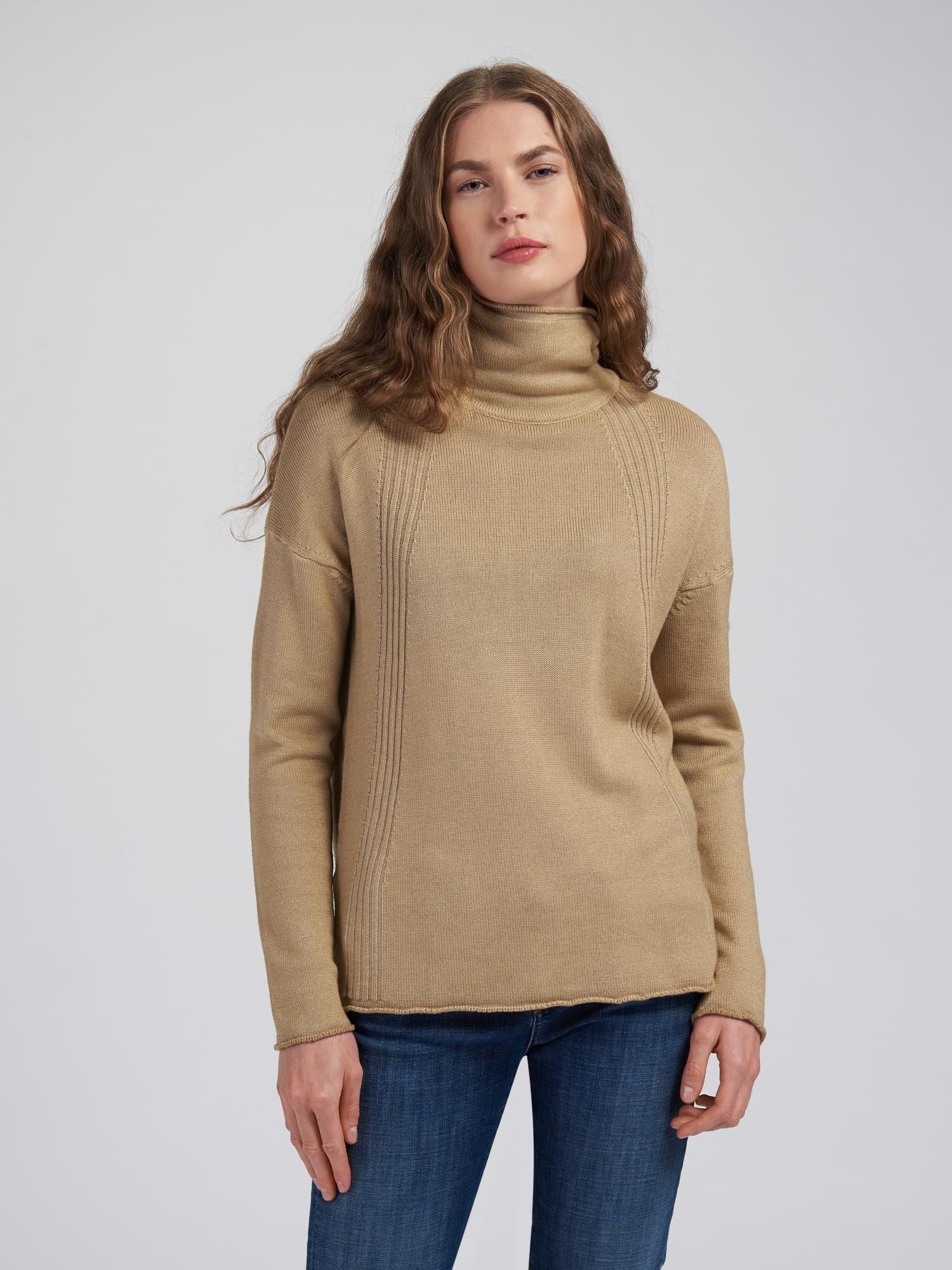 TURTLENECK WITH STRIPED DECORATION - Blauer