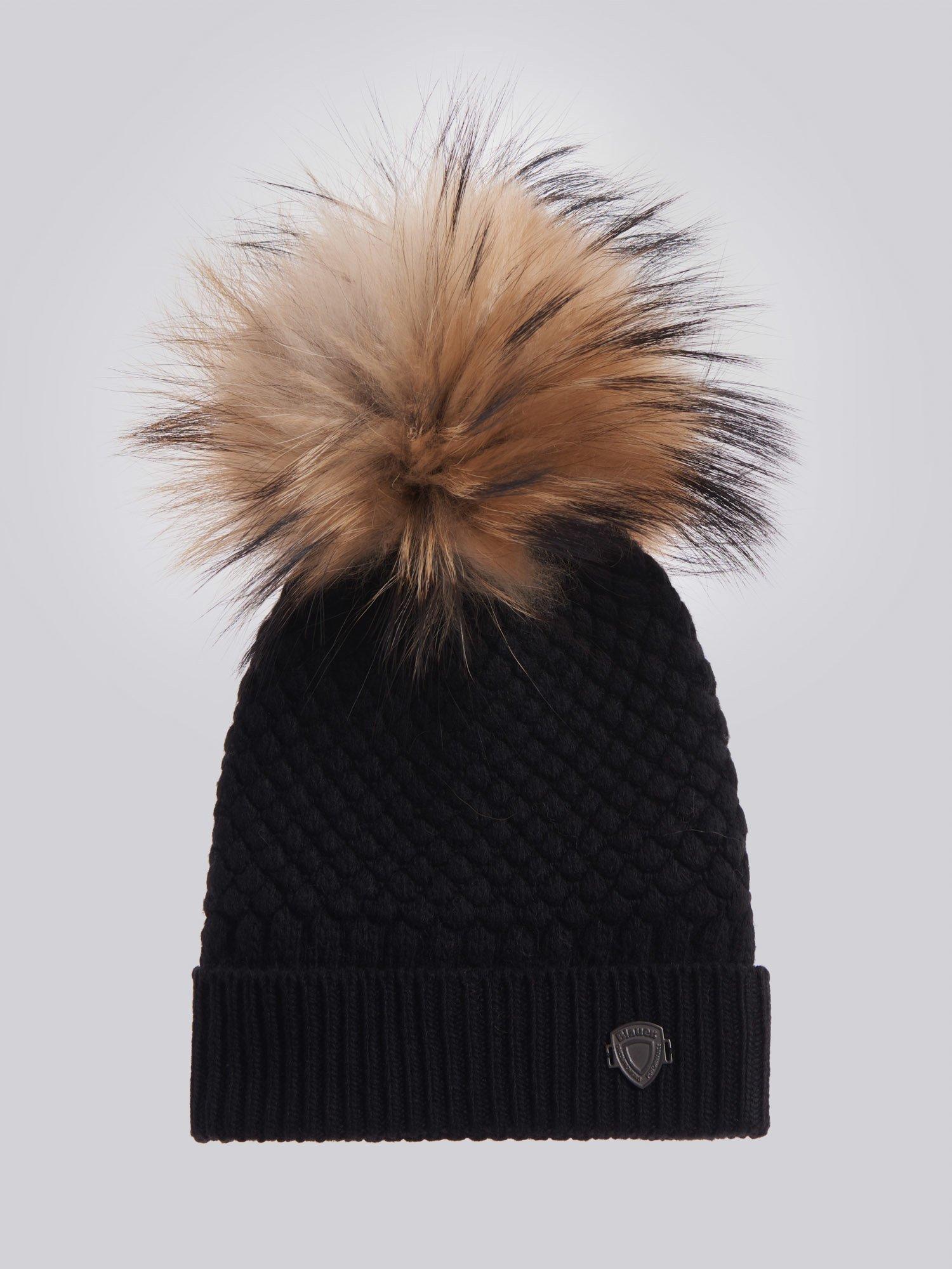 Blauer - CAP WITH POM POM - Black - Blauer