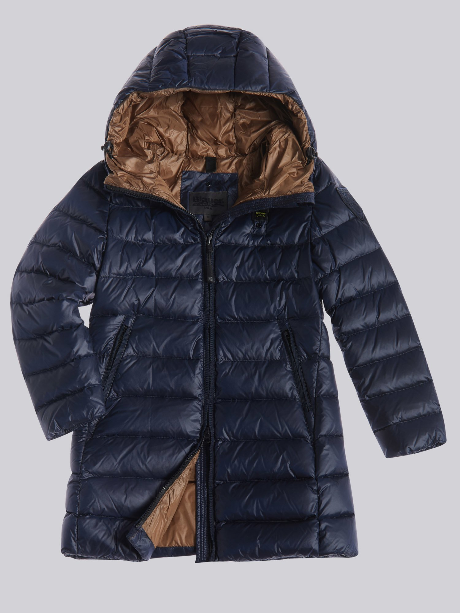 Blauer - MARYLIN LONG DOWN JACKET - Blue Ins Dachshund - Blauer